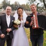 Гармонист на прогулку свадебную