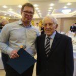 Ведущий Михаил на юбилее 100 лет